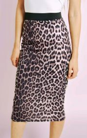 Leopard Print Midi Pencil Skirt